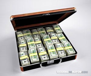 Dólares en un portafolio